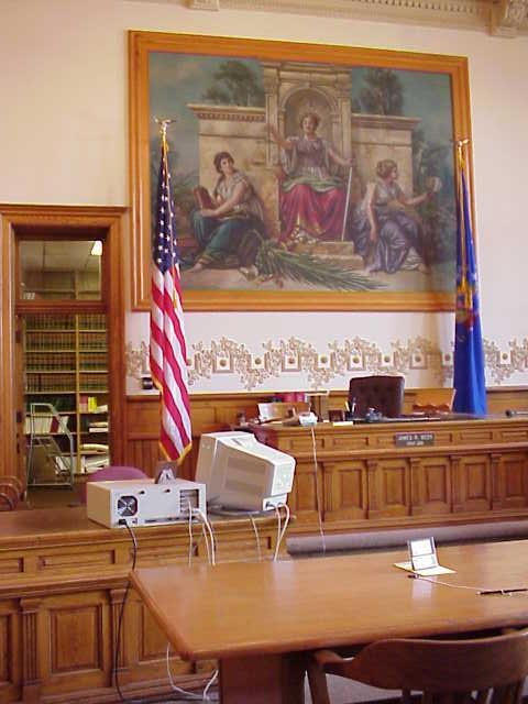 Courtroom at the Green County Courthouse
